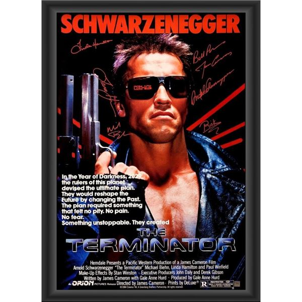 Signed The Terminator Movie Poster