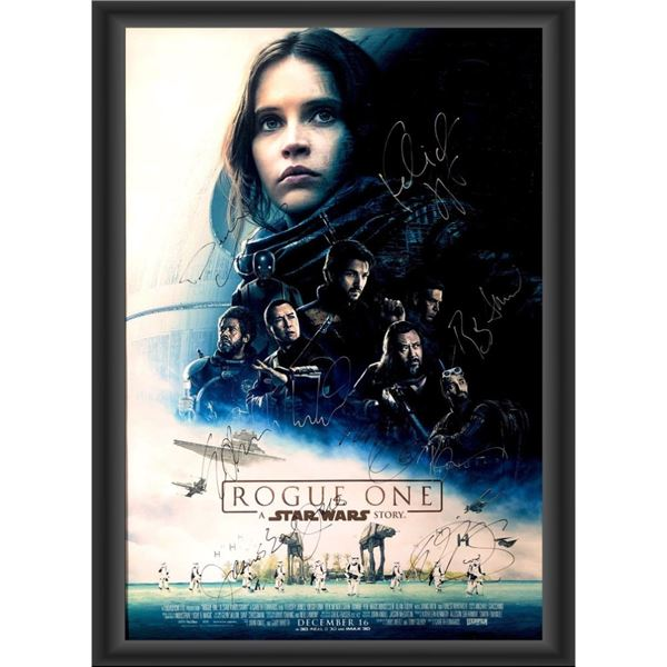 Signed Rogue One: A Star Wars Story Movie Poster
