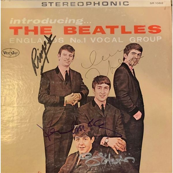 Signed Introducing The Beatles Album Cover