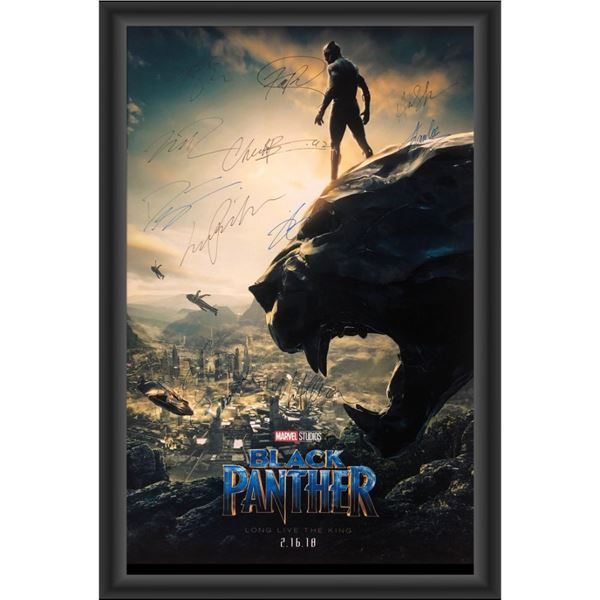 Signed Black Panther Movie Poster