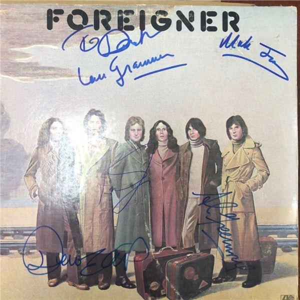 Signed Foreigner Album Cover