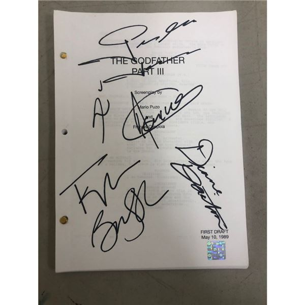 Signed Godfather 3 Script