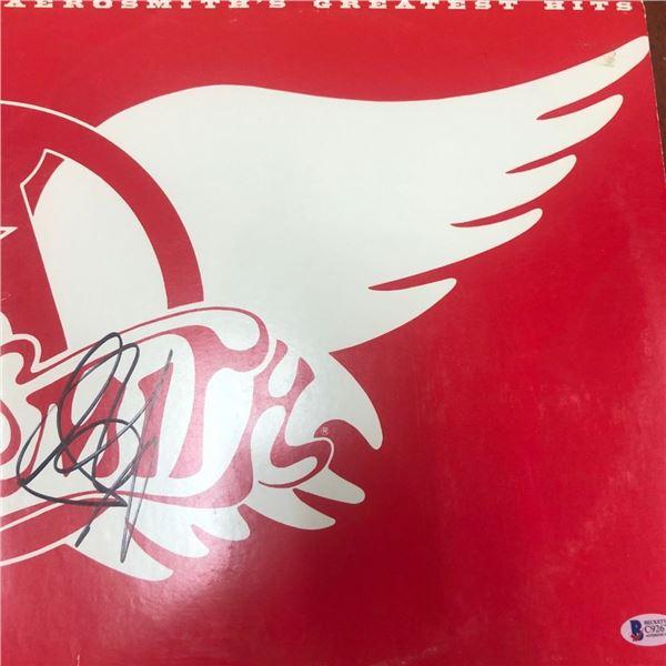 Signed Aerosmith Greatest Hits Album Cover