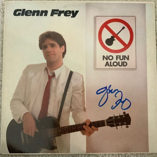 Signed Glenn Frey No Fun Aloud Album Cover