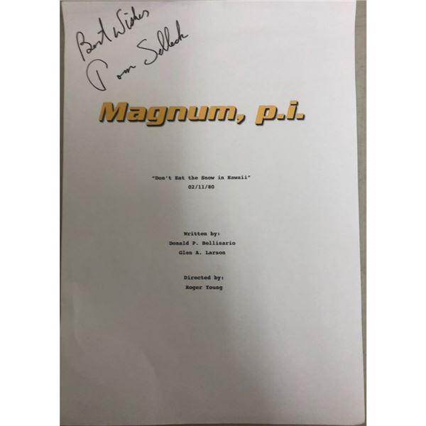 Signed Magnum PI Script