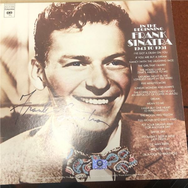 Signed Frank Sinatra In The Beginning Album Cover