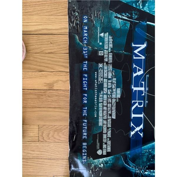 Signed The Matrix Movie Poster