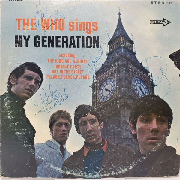 Signed The Who Sings My Generation Album Cover