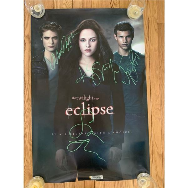 Signed Twilight Eclipse Movie Poster