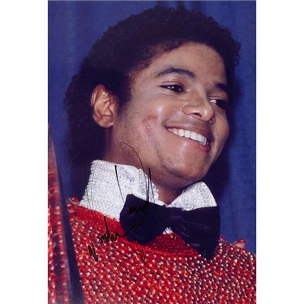 Signed Michael Jackson 8 x 10 Photo