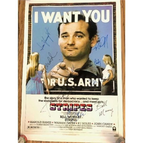 Signed Stripes Movie Poster
