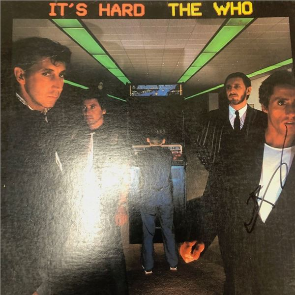 Signed The Who It's Hard Album Cover