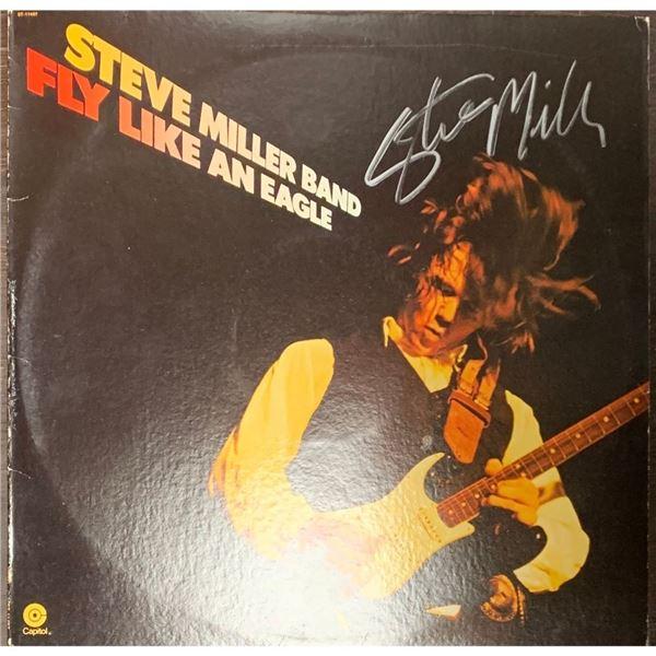 Signed Steve Miller Band, Fly Like An Eagle Album Cover