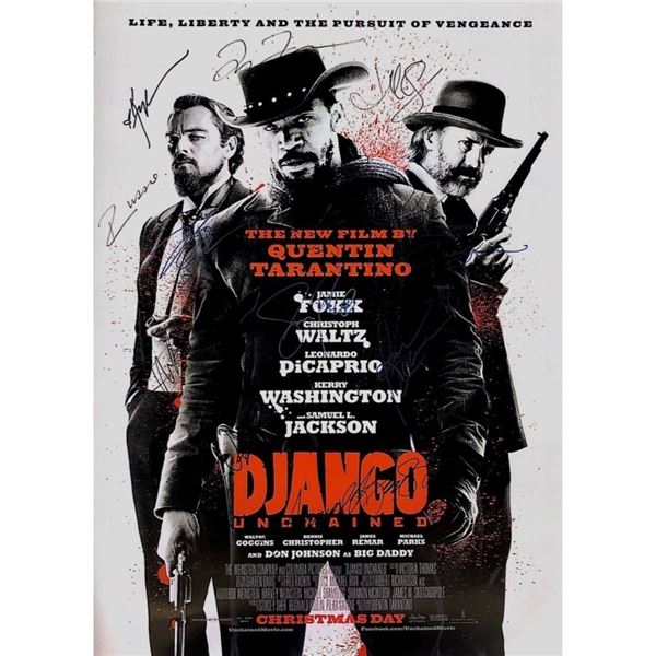 Signed Django Unchained Movie Poster
