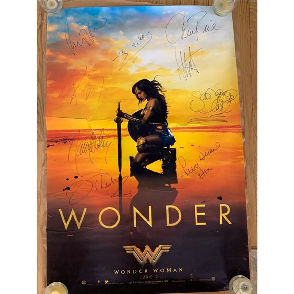 Signed Wonder Woman Movie Poster