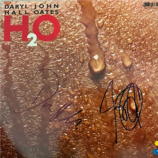 Signed Hall + Oates H20 Album Cover