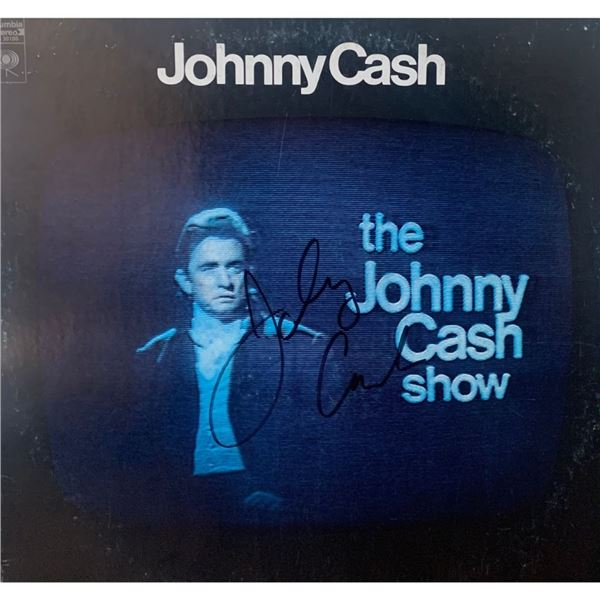 Signed Johnny Cash Show Album Cover