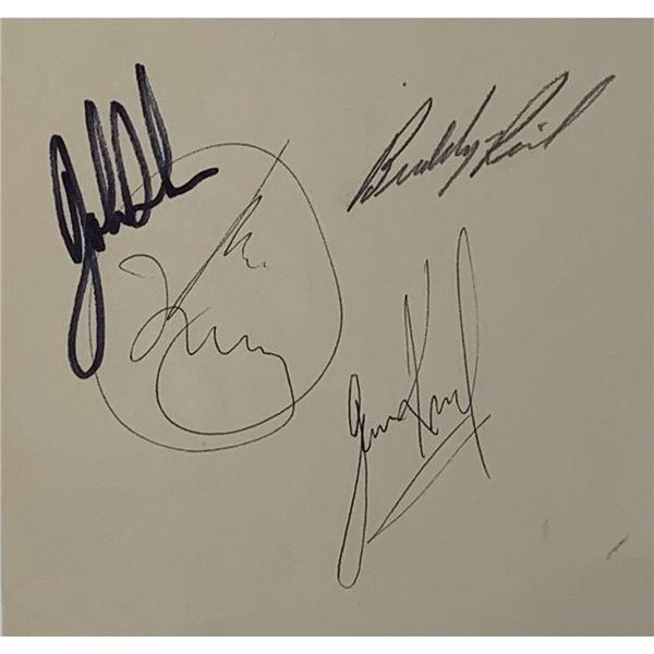 4 Classic Rock Drummer Autographs