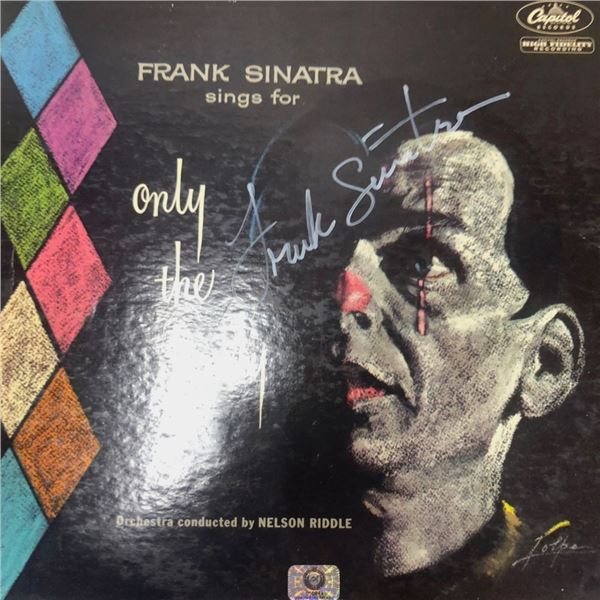 Signed Frank Sinatra Only The Lonely Album Cover