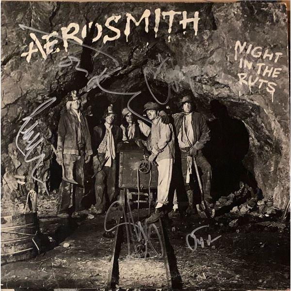 Signed Aerosmith Night In the Ruts Album Cover