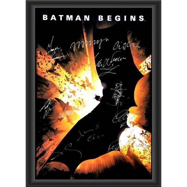 Signed Batman Begins Movie Poster