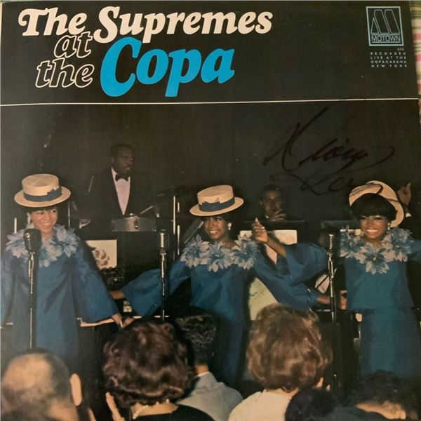 Signed The Supremes, The Supremes At The Copa Album Cover