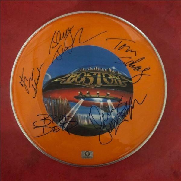 Signed Boston Drumhead