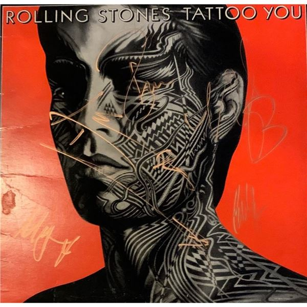 Signed Rolling Stones Tattoo You Album Cover