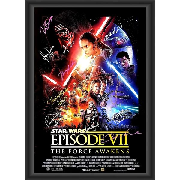 Signed Star Wars: The Force Awakens Movie Poster