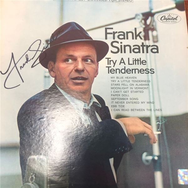 Signed Frank Sinatra Try A Little Tenderness Album Cover