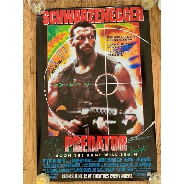 Signed Predator Movie Poster