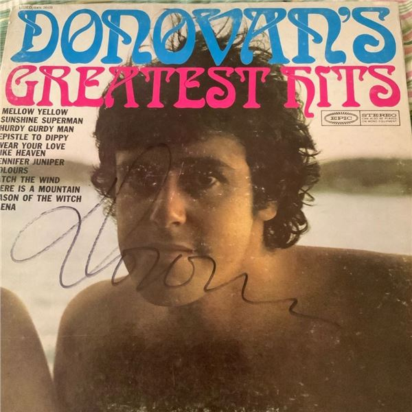 Signed Donovan's Greatest Hits Album  Cover