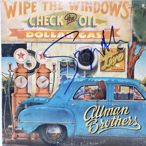 Signed Allman Brothers  Wipe The Windows, Check The Oil Album Cover