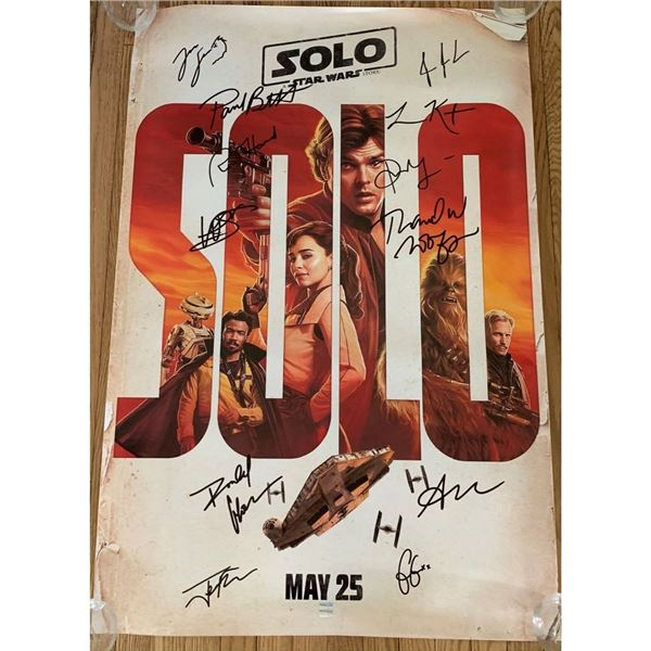 Signed Solo: A Star Wars Story Movie Poster