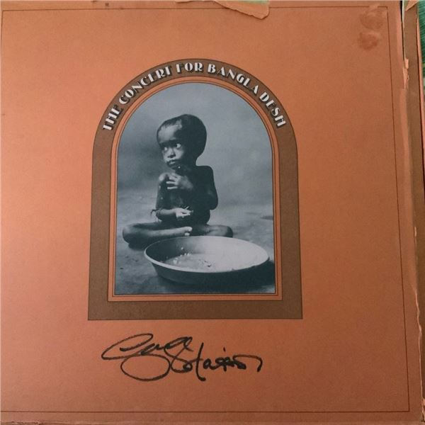 Signed George Harrison The Concert For Bangladesh Album Cover