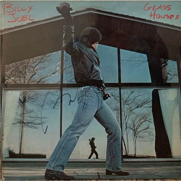 Signed Billy Joel Glass Houses Album Cover