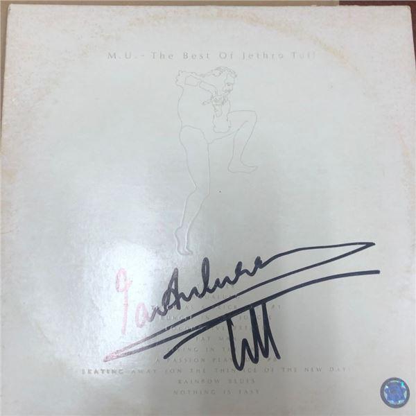 Signed Jethro Tull Best Of Album Cover
