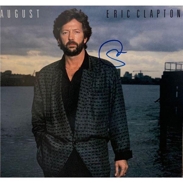 Signed Eric Clapton August Album Cover