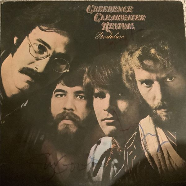 Signed Credence Clearwater Pendulum Album Cover