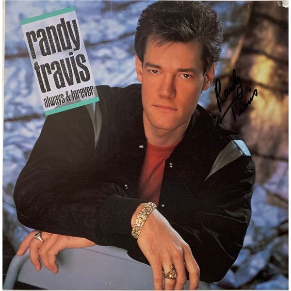 Signed Randy Travis Always And Forever Album Cover