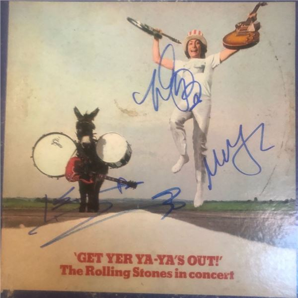 Signed Rolling Stones Get Yer Ya-Ya's Out Album Cover