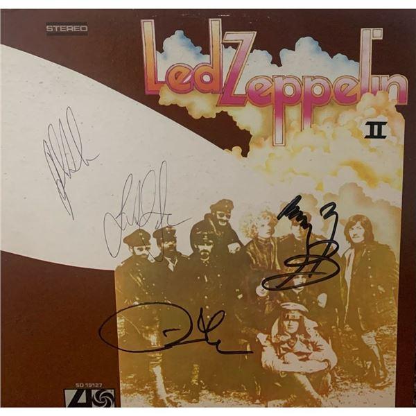 Signed Led Zeppelin II Album Cover