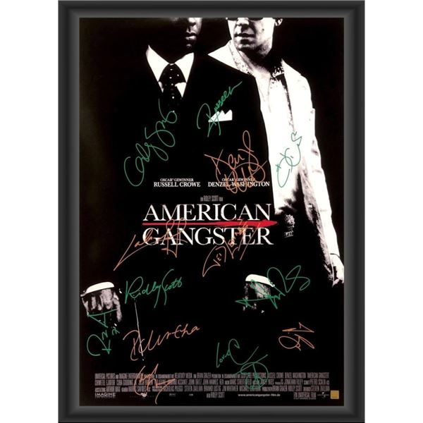 Signed American Gangster Movie Poster