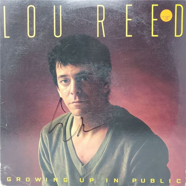 Signed Lou Reed, Growing Up In Public Album Cover