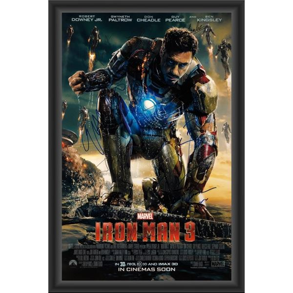 Signed Iron Man 3 Movie Poster