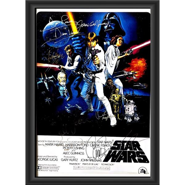 Signed Star Wars: A New Hope Movie Poster