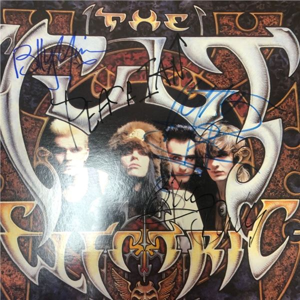 Signed The Cult Electric Album Cover
