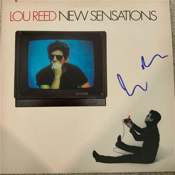 Signed Lou Reed, New Sensations Album Cover