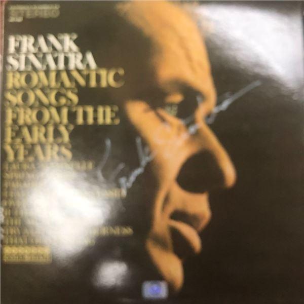 Signed Frank Sinatra Romantic Songs Album Cover