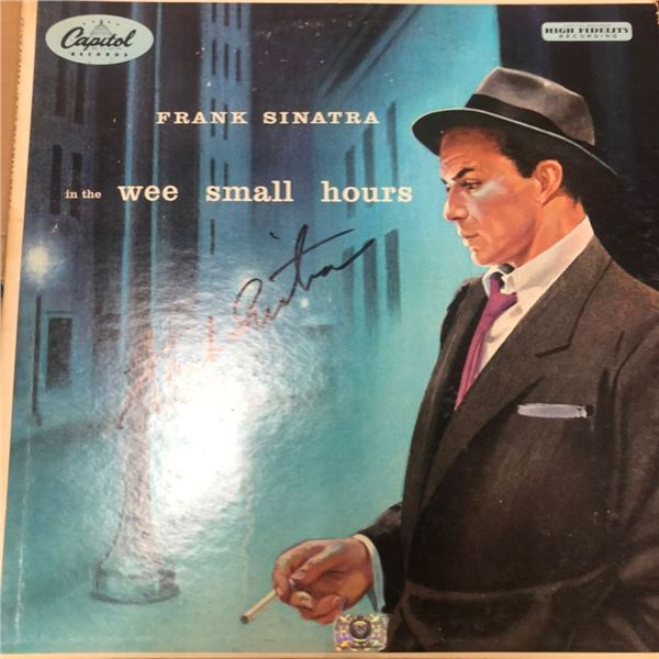 Signed Frank Sinatra In The Wee Small Hours Album Cover